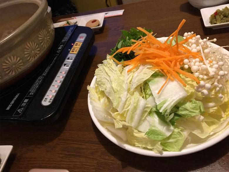 ぶりしゃぶは野菜たっぷり