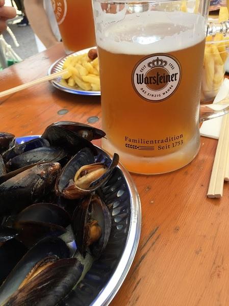 ビールとムール貝
