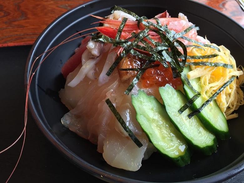 海鮮丼の内容