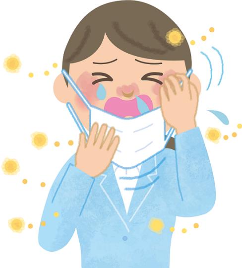 花粉症に悩む